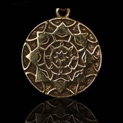 Lotus Shield - Silver/24K Gold Plated