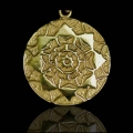 Lotus Shield - Silver/14k Gold Plated*
