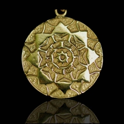 Lotus Shield - Silver/14k Gold Plated